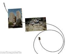 Porte photos fil magnet tige cable coloris acier 10 vues pèle - mêle Neuf
