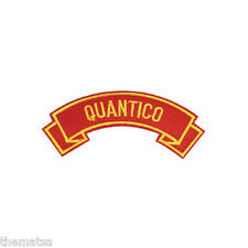 MARINE CORPS QUANTICO MILITARY EMBROIDERED USMC RED SHOULDER ROCKER PATCH
