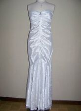 XSCAPE 14 White Strapless Embellished Lace Wedding or Formal Dress *NWT $224