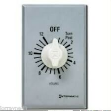 Intermatic FF312H 12 HOUR SPDT   Wall Switch Timer without Hold AUTO SHUT-OFF