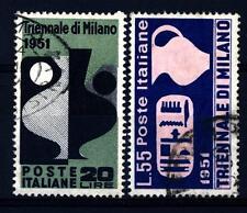 ITALIA REP. - 1951 - IX° Triennale di Milano - Serie Completa - 20 + 55 Lire
