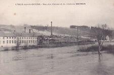 L'ISLE-SUR-LE-DOUBS vue des usines et du château MEINER