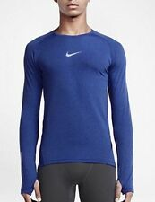 NIKE AEROREACT MEN'S LONG SLEEVE RUNNING SHIRT SIZE MEDIUM 683910 455 NWT $100