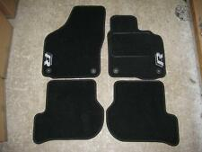 Car Mats in Black to fit VW Golf MK6/Scirocco (2009 on) + New R (R-Line) Logos