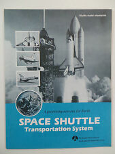 1981 SPACE SHUTTLE Transportation System Rockwell International Poster Schematic
