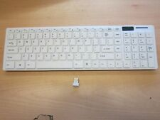 White Wireless USB Keyboard with Splashproof/Dirtproof Membrane for Laptop/PC