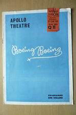 Apollo Theatre Programme & TICKET 1st Perform 1962- BOEING BOEING by M Camoletti