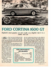 1970 FORD CORTINA 1600 GT ~  ORIGINAL 3-PAGE ROAD TEST / ARTICLE / AD