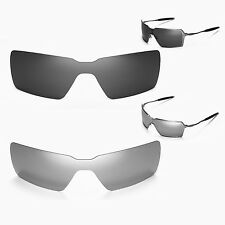Walleva Polarized Black + Titanium Replacement Lenses for Oakley Probation