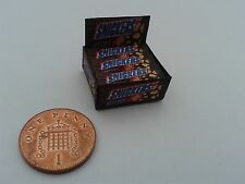 1/12 Scale - Box of Snickers Sweets for Dollshouse Miniatures