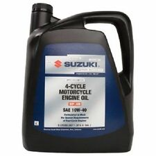 5 Liter Suzuki Performance 4 Cycle Motorcycle Engine Oil 10W-40 five liters