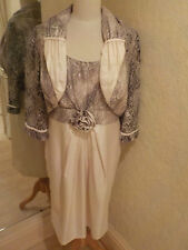 Michel Ambers dress and jacket cream size 20