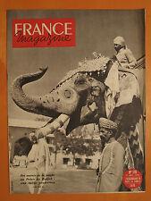 FRANCE magazine N° 170 du 17/12/1950-Des marais de la jungle au Palais du Radjah