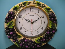 wall clock Grape.Home wine Bar Set fruit new.