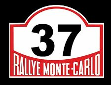Classic Exterior Vinyl Decal Nostalgic Monte Carlo Rally Vintage Mini Number 37