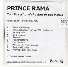 (DL117) Prince Rama, Top Ten Hits of the End of the World - 2012 DJ CD