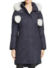 2017 Moose Knuckles Stirling Fox Fur Down Parka Jacket Coat Navy size S $850 NEW