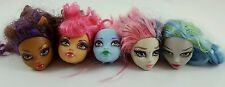 Monster High Lot Heads OOAK Replacement Parts Ghoulia Howleen Clawdeen Rochelle