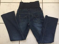 THYME MATERNITY Bootcut Jeans Womens Blue Stretch  Size M