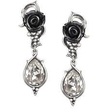 GENUINE Alchemy Gothic Earrings - Bacchanal Rose Studs | Ladies Fashion