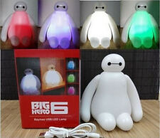 NEW Color Changing Big Hero 6 Baymax USB LED Table Desk Lamp Light Gift Toys