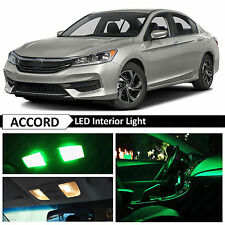 16x Green Interior LED Lights Package Kit for 2013-2016 Honda Accord + TOOL