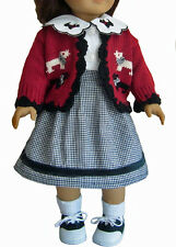 """DEAL! Scotty Dog OUTFIT + SHOES for 18"""" American Girl Doll Clothes"""
