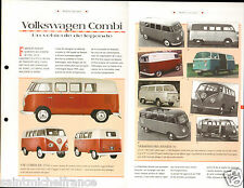 VW Volkswagen Combi 4 Cyl. Transporter Germany Allemagne  Car Auto FICHE FRANCE