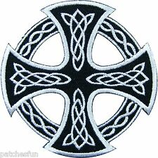 "3 "" The Celtic Cross Skull Rock Punk Biker Motorcycle Tattoo Iron on Patch #0942"