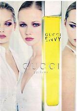 Publicité Advertising 1997 Parfum Gucci Envy
