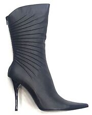 BRONX WOMEN BOOTS ALL BLACK LEATHER SIZE 38 / 8