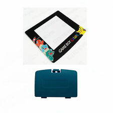 New TEAL Game Boy Color Battery Cover + Pokemon Squirtle Screen GBC