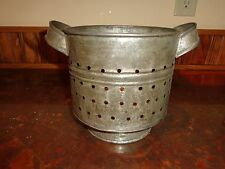 19th.c Pierced Tin Cheese Strainer, Mold, Antique, Primitive