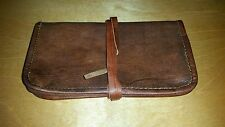 Handmade Natural Genuine Full Grain RealGoat Leather Phone Cover Coin Pouch