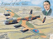 Legend Of The Skies Avro Lancaster large steel sign  400mm x 300mm (og)