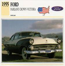 1955 FORD FAIRLANE CROWN VICTORIA Classic Car Photograph / Information Maxi Card