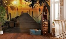 Wall Mural Photo Wallpaper TREASURE ISLAND SUNSET Bedroom Decor GIANT! 368x254cm