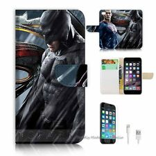 iPhone 6 (4.7') Flip Wallet Case Cover! S8296 Superman Batman