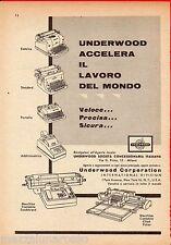 Pubblicità Advertising 1956 macchine da scrivere UNDERWOOD CORPORATION