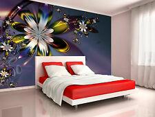 Colorful Purple Flower Wall Mural Photo Wallpaper GIANT WALL DECOR PAPER POSTER