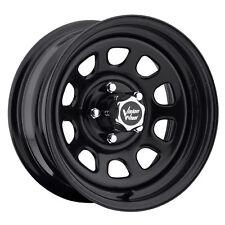 """4-NEW Vision 84 D Window 16x8 6x139.7/6x5.5"""" -12mm Gloss Black Wheels Rims"""