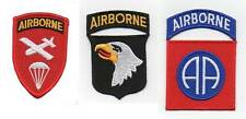 3 x US ARMY US  AIRBORNE PATCHES PATCH MILITARY INSIGNA  EMBROIDED PARATROOPER