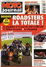 MOTO JOURNAL 1701 APRILIA RSV 1000 R DUCATI 800 S2 620 Monster KAWASAKI Z750 ER6