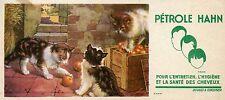 BUVARD / PUBLICITAIRE / PETROLE HAHN / SANTE DES CHEVEUX / CHAT / CAT