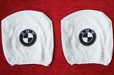 2 Head Rest Cover Headrest Covers WHITE for BMW e30 e32 e34 36 38 e46 316 318