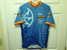 New vgear mens cycling bike racing jersey short sleeve ½ zipper blue nwt