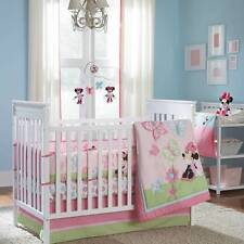 New 5pc Disney Minnie Mouse Crib Bedding Bumper Set Newborn Baby Girl Gift Set