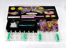 DIY LOOM & BANDS BRACELET MAKING KIT INCLUDES 600 RAINBOW RUBBER BANDS, CLIPS