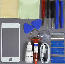 Apple iPod Touch 6 Replacement Screen Front Glass Replacement Repair Kit WHITE