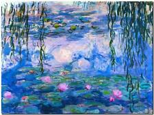 "CLAUDE MONET ~ Water lilies Pink  ~ CANVAS ART PRINT Poster ~ 8""X 10"""
